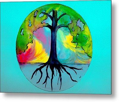 Wishing Tree Metal Print by Brenda Owen