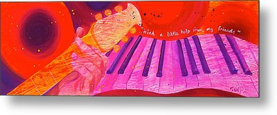 With A Little Help Metal Print by Debi Starr