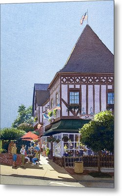 With Friends At Stratford Square Metal Print by Mary Helmreich