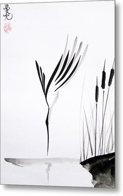 With Will And Determination Metal Print by Oiyee  At Oystudio