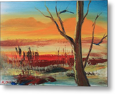 Withered Tree Metal Print by Remegio Onia