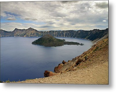 Wizard Island - Crater Lake Oregon Metal Print by Christine Till
