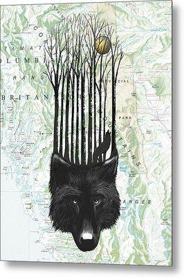 Wolf Barcode Metal Print by Sassan Filsoof