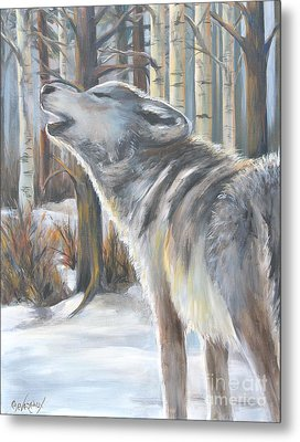 Wolf Metal Print by Cher Devereaux