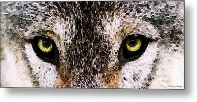 Wolf Eyes By Sharon Cummings Metal Print by Sharon Cummings