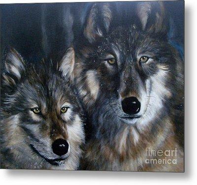 Wolves Metal Print by Julie Bond