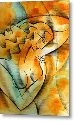 Woman Health Metal Print by Leon Zernitsky