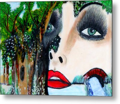 Woman In Trees Metal Print by Suzanne Thomas