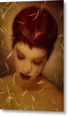 Woman Portrait Metal Print by Gun Legler