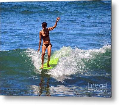 Woman Surfer Metal Print by Alexandra Jordankova