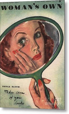 WomanÕs Own 1944 1940s Uk Make-up Metal Print by The Advertising Archives