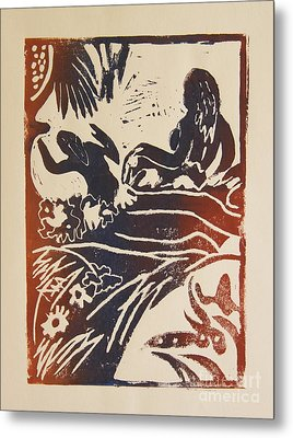 Women I A La Gauguin Metal Print by Christiane Schulze Art And Photography