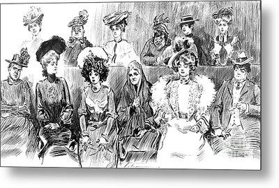 Women Jurors 1902 Metal Print by Padre Art