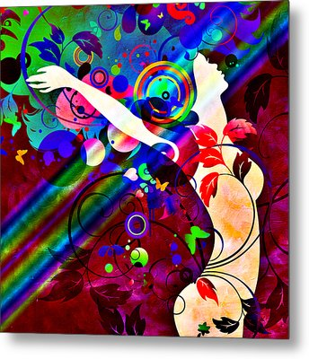 Wondrous At The End Of The Rainbow Metal Print by Angelina Vick