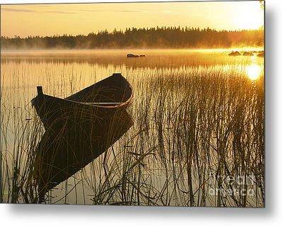 Wooden Boat Metal Print by Veikko Suikkanen