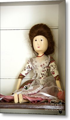 Wooden Doll Metal Print by Margie Hurwich