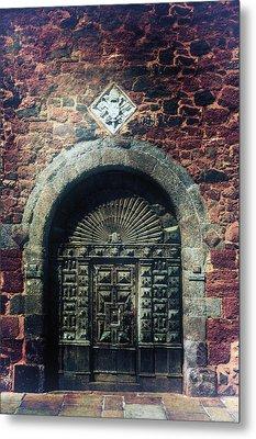 Wooden Gate Metal Print by Joana Kruse