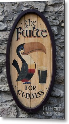 Wooden Guinness Sign Metal Print by Christiane Schulze Art And Photography