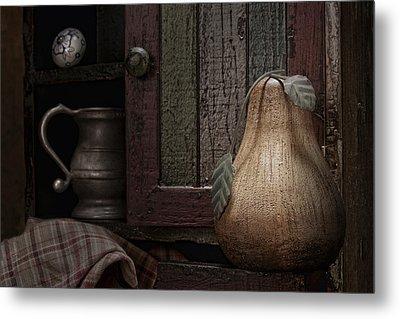 Wooden Pear Still Life Metal Print by Tom Mc Nemar