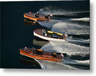 Wooden Runabouts On Lake Tahoe Metal Print by Steven Lapkin