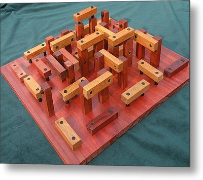 Woodhenge Metal Print by Dave Martsolf