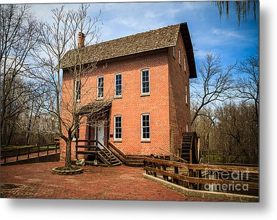 Wood's Grist Mill In Deep River County Park Metal Print by Paul Velgos