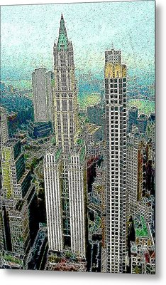 Woolworth Building New York City 20130427 Metal Print by Wingsdomain Art and Photography