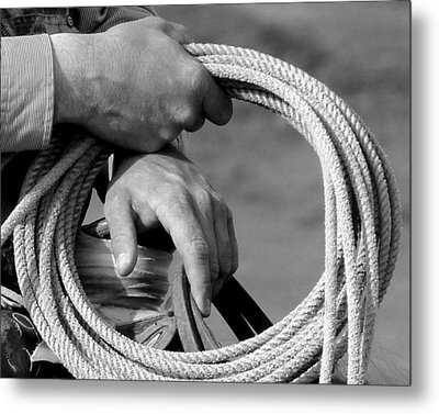 Working Man's Hands Metal Print by Carla Froshaug