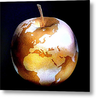 World Apple Metal Print by The Creative Minds Art and Photography