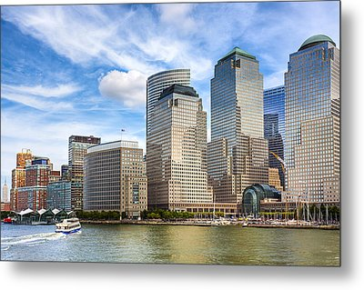 World Financial Center And The Manhattan Waterfront Metal Print by Mark E Tisdale