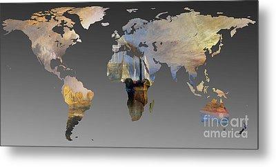 World Map  Joseph Turner 3 Metal Print by John Clark