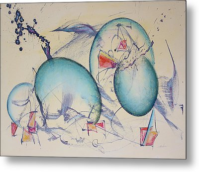 Worlds In Genesis Metal Print by Asha Carolyn Young