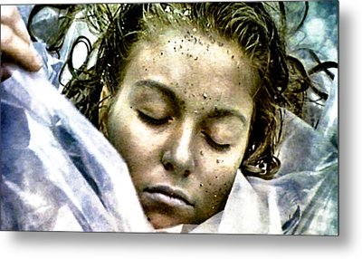 Wrapped In Plastic Metal Print by Luis Ludzska