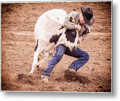 Wrestling Match Metal Print by Caitlyn  Grasso