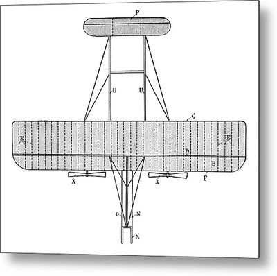 Wright Biplane Metal Print by Science Photo Library