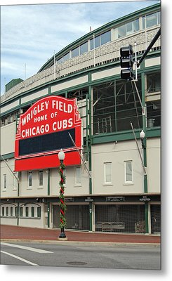 Wrigley Field Metal Print by Skip Willits