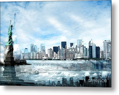 Wrong Expectations New York City Usa Metal Print by Sabine Jacobs