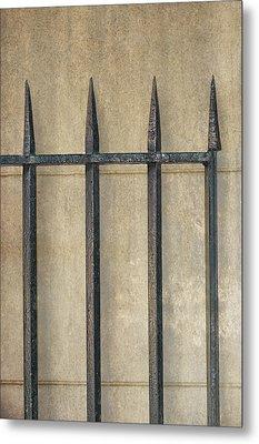 Wrought Iron Gate Metal Print by Brenda Bryant