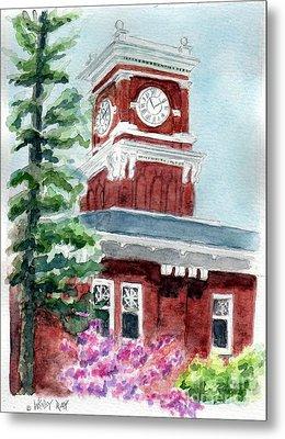 Wsu Clocktower Metal Print by Wendy Ray