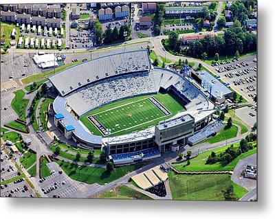Wvu Mountaineer Stadium Aerial Metal Print by Mattucci Photography