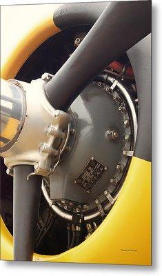 Ww II Airplane Engine Metal Print by Thomas Woolworth