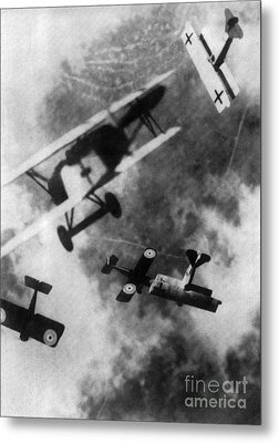 Wwi German British Dogfight Metal Print by Nypl