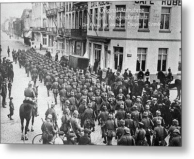 Wwi German Soldiers, C1914 Metal Print by Granger