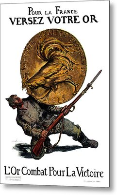 Wwi Gold For French Victory Metal Print by Historic Image