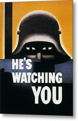 Wwii: Propaganda Poster Metal Print by Granger