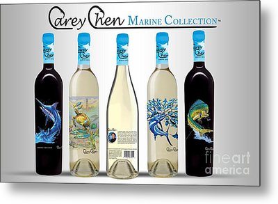 www.CareyChenWine.com Metal Print by Carey Chen