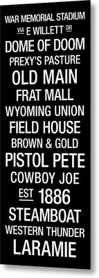 Wyoming College Town Wall Art Metal Print by Replay Photos
