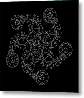 X To The Sixth Power Inverse Metal Print by DB Artist