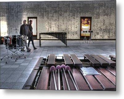 Xylophone Metal Print by Jane Linders