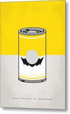 Y Mario Warhols Minimal Can Poster-wario Metal Print by Chungkong Art